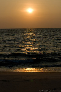 sunset at alleppey beach