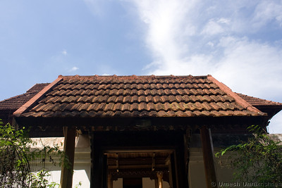 palace roof and gate