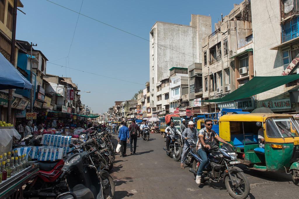 Street scene in Ahmedabad.