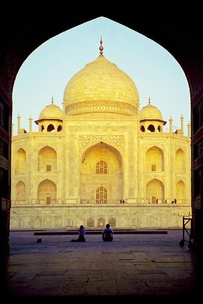 Taj Mahal after sunrise - Agra, India, 1999