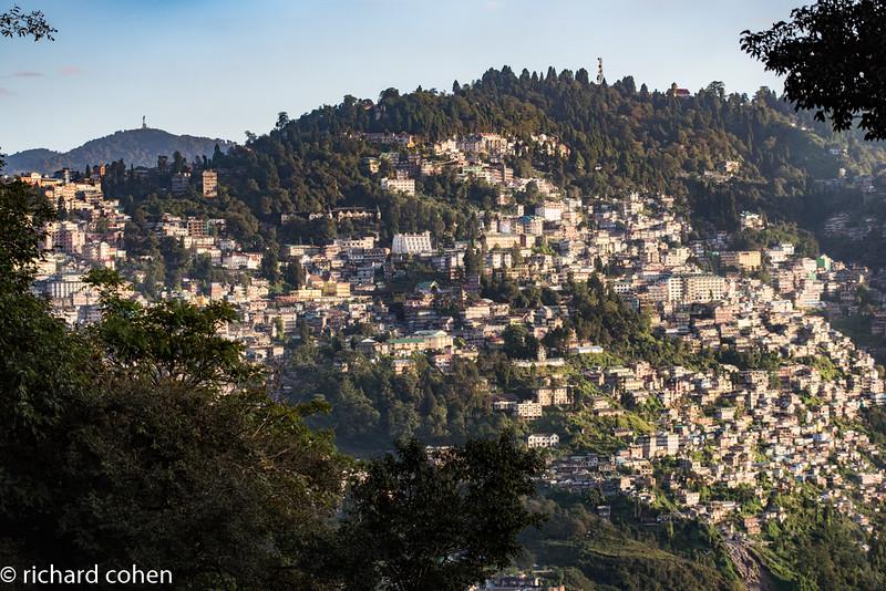 Darjeeling, entirely built on Himalayan ridges.