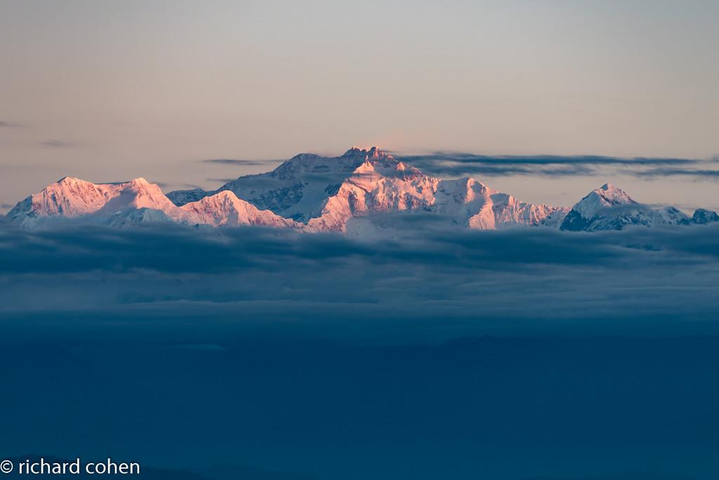View of Kanchenjunga, third highest peak in the world.