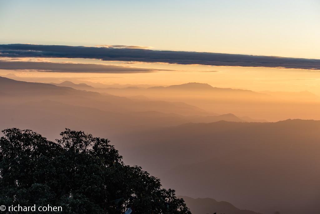Sunrise on the ridges.