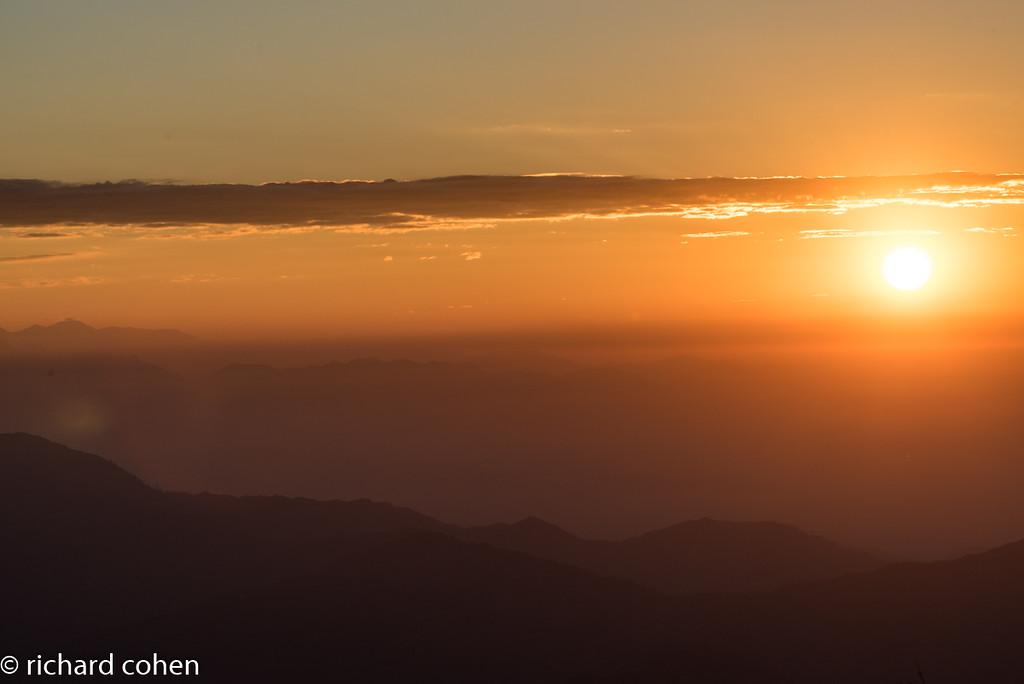 Sunrise from Tiger Hill, Darjeeling.