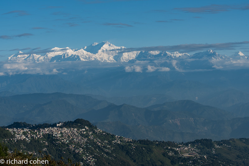 Darjeeling with Kanchenjunga in the background.