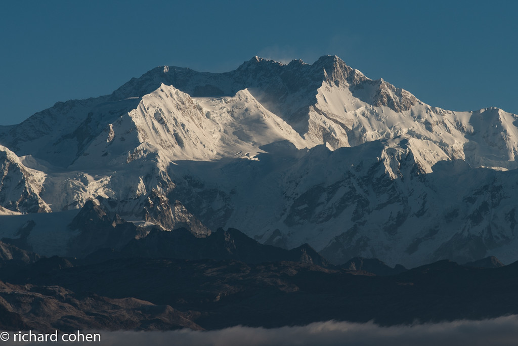 Closeup of Kanchenjunga. The mountain is off limits to climbers now, for religious reasons.
