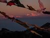 first light on Makalu, Everest and Lhotse