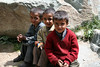 As we wait for our horses to start trekking in Kashmir, a few local kids hang out and watch the preparations.