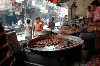 """""""The best kebabs in town"""", I was told; they were tasty but greasy! Lucknow."""
