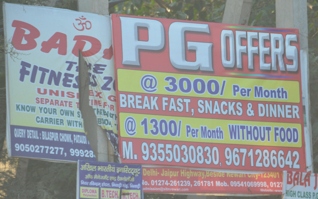 PG=Paid Guest.  This is an ad for a room.