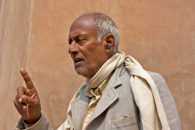 Our guide at the Agra Fort - very interesting gentleman.
