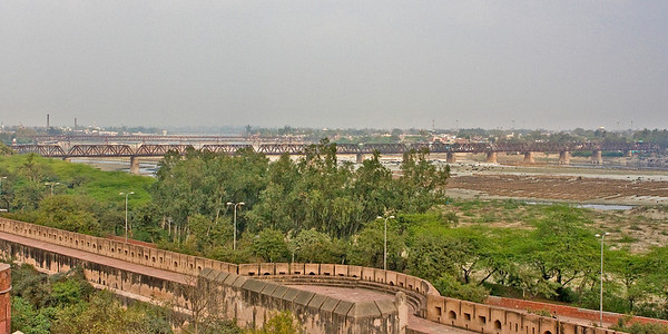 Yamuna River from Agra Fort.