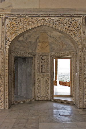 Inside the Musamman Burj, where Shah Jahan spent the last seven years of his life under house arrest by his son Aurangzeb.