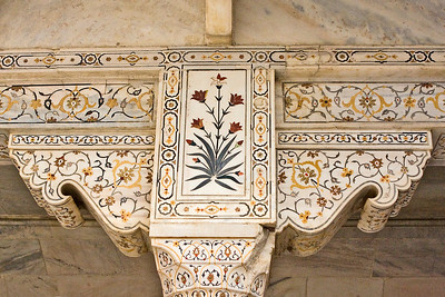 Beautifully decorated marble in Musamman Burj