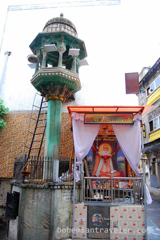 A chabutara, or bird-feeding tower in old Ahmedabad, India.
