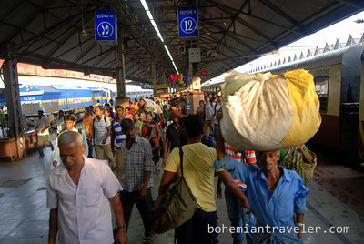 Howrah station in the morning.