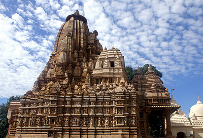 We've travelled on to Khajuraho famous for the beautiful medieval Hindu and Jain temples with their erotic sculptures