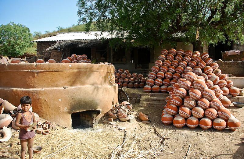 These are scenes from a small pottery village near Bundi.