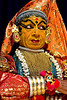 "Kathakali is performed using 9 facial expressions (and 24 hand positions). This and the following pictures focus on the facial expressions. This one is ""disbelief."""