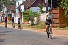German bicycle tourists, the only cyclists in India wearing helmets, but suicidal nevertheless.
