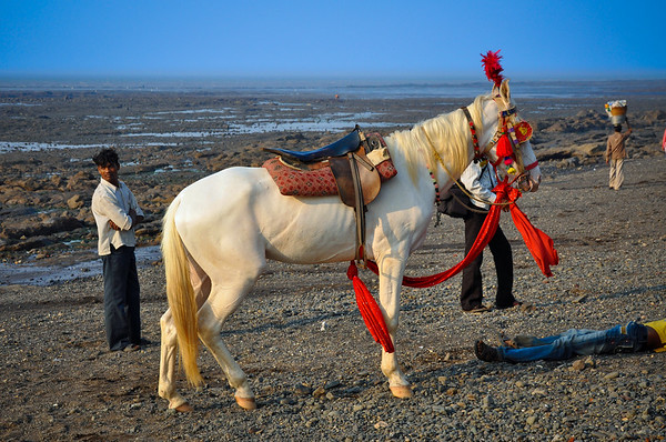 Horse back rides were available at Devka Beach, Daman