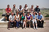 Intrepid 'Delhi to Kathmandu'group in Agra at the Red Fort.