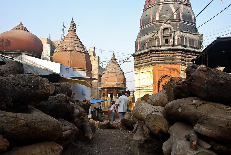 Burning ghats firewood