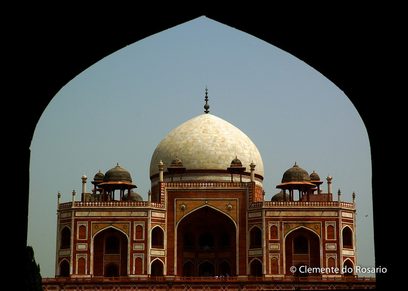 Humayun's Tomb,built by Humayun's widow in the 16th century<br /> File Ref:Delhi-2006 006R