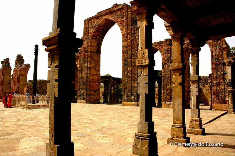 Qutub Minar, example of Afghan architecture, Construction began in the final year of the 12th century<br /> File Ref:Delhi-2006 025J