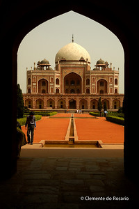 Humayun's Tomb,built by Humayun's widow in the 16th century File Ref:Delhi-2006 007R