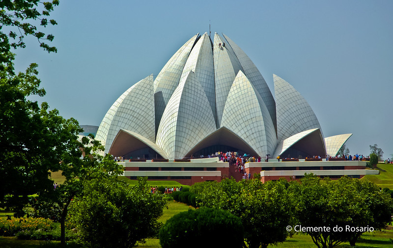 The Lotus Temple, Bahai's House of Worship, Delhi, India<br /> File Ref:Delhi-2006 005R