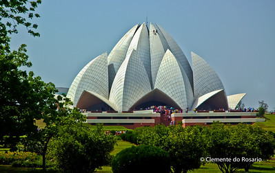 The Lotus Temple, Bahai's House of Worship, Delhi, India File Ref:Delhi-2006 005R