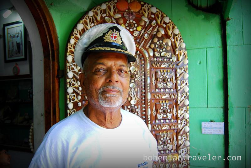 Captain Devjibhai V. Fulbaria of the Seashell Museum