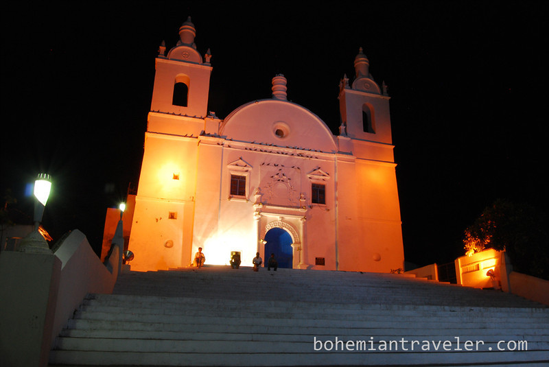St Thomas church at night Diu India.