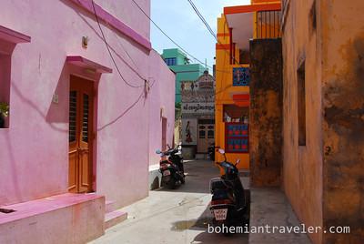 A street of Diu, India.