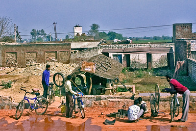 Bike repair shop.  Photographed February 2009
