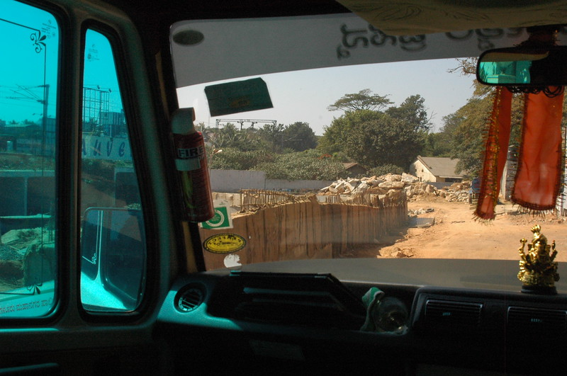 This is a shot right outside our hotel.  We're in the van and just turning into the gate.