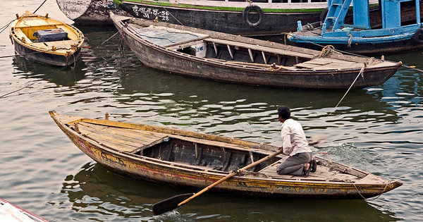 Boatman on the Ganges.