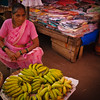 Bananas for sale at theMapusa Friday Market, North Goa, India