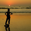 Sunset at Colva Beach, South Goa, India