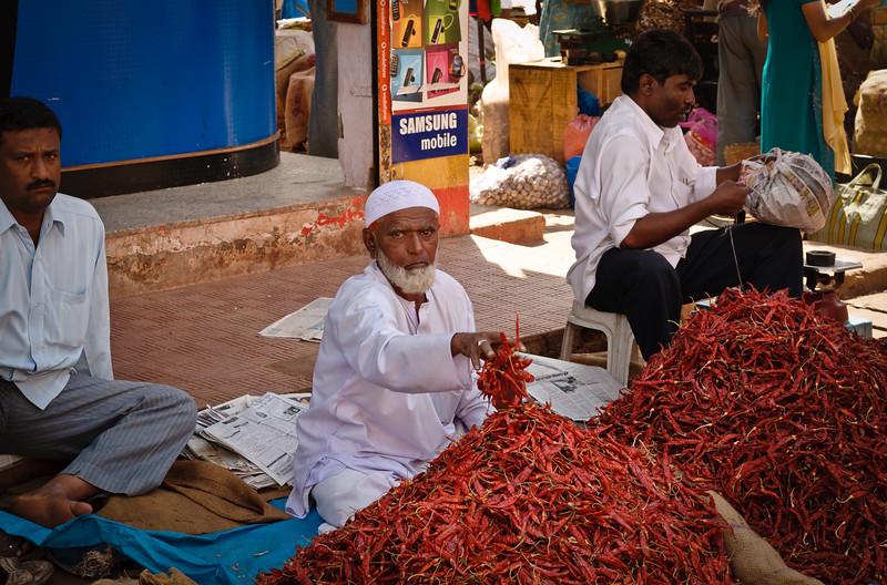 Red Hot Chillies at the Mapusa Friday Market,Goa, India