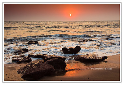 Sunset at Cola Beach in Canacona, South Goa India