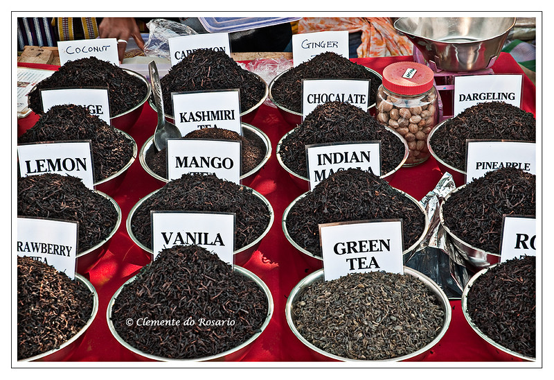 Variety of Teas at the Anjuna Flea Market, Goa