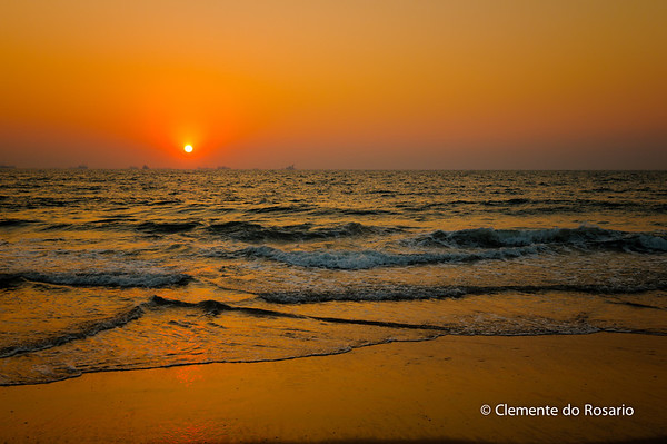 Sunset at Candolim Beach, North Goa, India