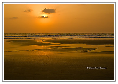 Sunset at Varca Beach Goa India