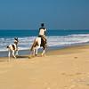 Horse riding along Varca Beach, South Goa, India