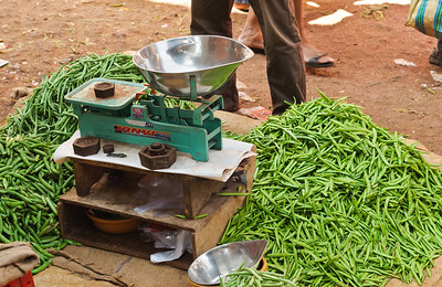 Antiquated Weighing Scale at the Mupusa Friday Market, Goa, India