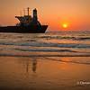Sunset at Candolim Beach, North Goa, India.