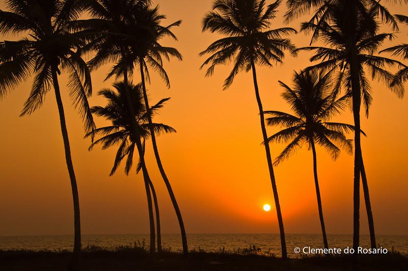 Sunset at Varca Beach, South Goa, India