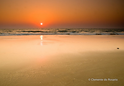Sunset at Varca Beach, South Goa, India